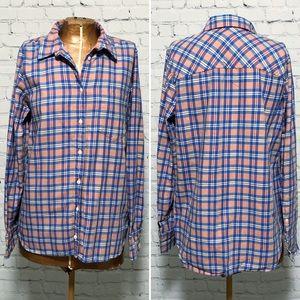 J. Crew Plaid Flannel Boy Shirt EUC